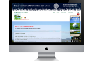 Promotioanl Website for Cumbria Golf App